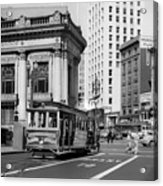 San Francisco Cable Car During Wwii Acrylic Print