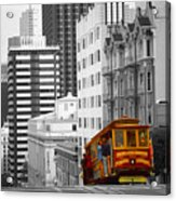 San Francisco - Red Cable Car Acrylic Print