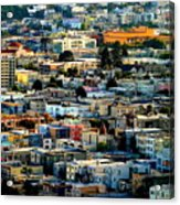 San Francisco California Scenic  Rooftop Landscape Acrylic Print