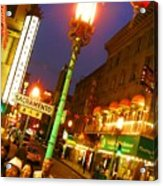 San Francisco Chinatown Acrylic Print