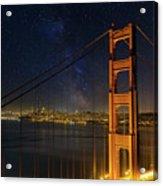 San Francisco City Skyline Through Golden Gate Bridge Acrylic Print