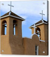 San Francisco De Asis Mission Bell Towers Acrylic Print
