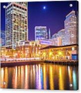 San Francisco Downtown City Skyline At Night Acrylic Print