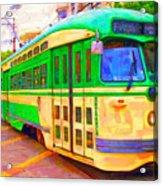 San Francisco F-line Trolley Acrylic Print