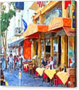 San Francisco North Beach Outdoor Dining Acrylic Print