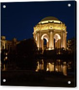 San Francisco Palace Of Fine Arts At Night Acrylic Print