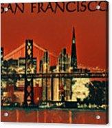 San Francisco Poster Acrylic Print