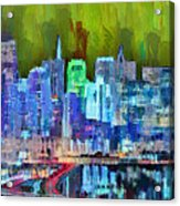 San Francisco Skyline 115 - Pa Acrylic Print