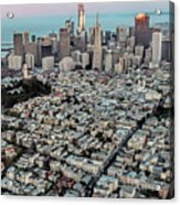 San Francisco Skyline And Coit Tower Acrylic Print