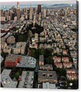 San Francisco Skyline And Coit Towersan Francisco Skyline And Coit Tower Acrylic Print