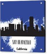 San Francisco Skyline Silhouette Acrylic Print