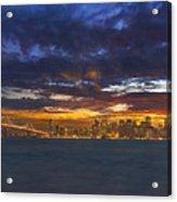 San Francisco Sunset Acrylic Print