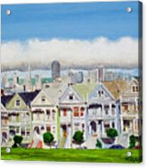 San Francisco's Painted Ladies Acrylic Print by Mike Robles