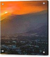 San Gabriel Complex Fire Acrylic Print