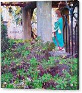 San Gabriel Mission California - Virgin Mary Acrylic Print
