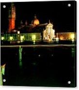 San Georgio Maggiore in Venice at Night Acrylic Print