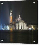 San Giorgio Maggiore By Night Acrylic Print