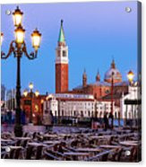 San Giorgio Maggiore From Piazza San Marco - Venice Acrylic Print
