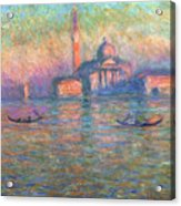 San Giorgio Maggiore Venice Acrylic Print by Claude Monet