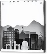 San Jose Graphic Skyline Acrylic Print