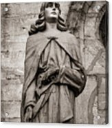 San Juan Bautista Statue At The Manizales Cathedral Acrylic Print