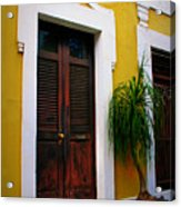 San Juan Doors Acrylic Print by Perry Webster