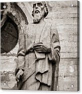 San Lucas Statue At The Manizales Cathedral Acrylic Print