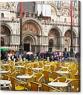 San Marco On A Rainy Day Acrylic Print