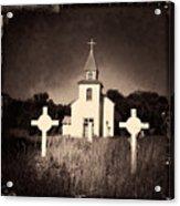 San Patricio Church IIi Sepia Acrylic Print