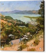 San Rafael Bay From Via La Cumbre, Greenbrae, Ca Acrylic Print