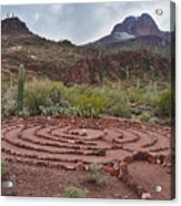 Sanctuary Cove Labyrinth Acrylic Print