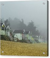 Sand And Huts And Fog Acrylic Print
