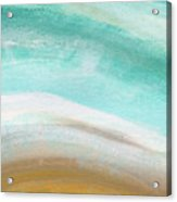 Sand And Saltwater- Abstract Art By Linda Woods Acrylic Print