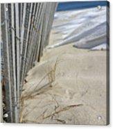 Sand And Snow Acrylic Print
