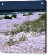 Sand Beach And Grass Acrylic Print