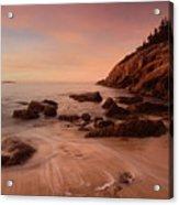 Sand Beach At Sunrise Acrylic Print
