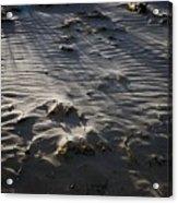 Sand Beach At Sunset Acrylic Print