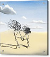 Sand Dance Mother And Child  Acrylic Print