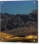 Sand Dunes - Death Valley's Gold Acrylic Print