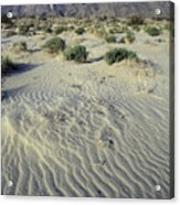 Sand Dunes And San Ysidro Mountains Acrylic Print