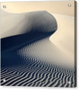 Sand Dunes Patterns In Death Valley Acrylic Print