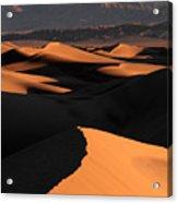 Sand Dunes Sunrise Glow Acrylic Print