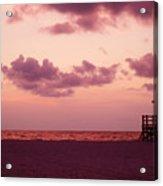 Sand Key Sunset Acrylic Print by Milton Brugada