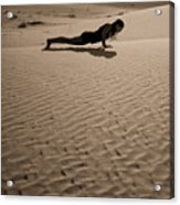 Sand Plank Acrylic Print