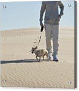 Sand Walk Acrylic Print