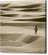 Sand Walker Acrylic Print