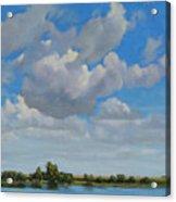 Sandbar Slough July Skies Acrylic Print