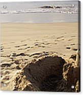 Sandcastle On The Beach, Hapuna Beach Acrylic Print