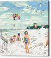 Sandcastles On Siesta Key Public Beach Acrylic Print