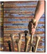 Sandlot Baseball Acrylic Print by Vance Fox